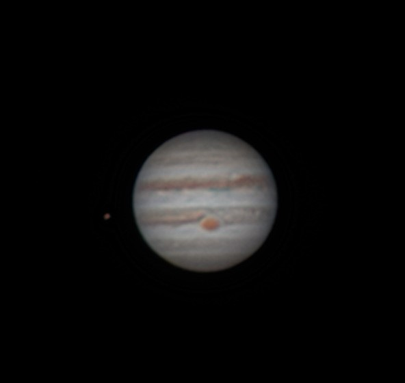 Jupiter and Io CREDIT Charlie Stevenson